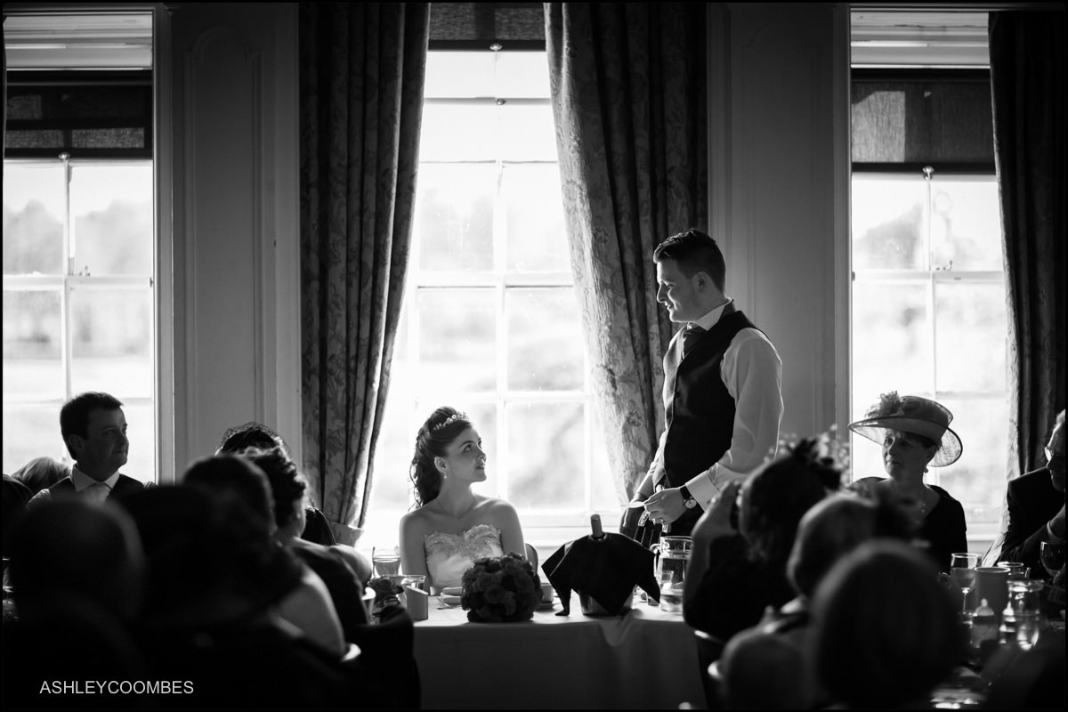 Groom's speech Pollok House wedding photographer