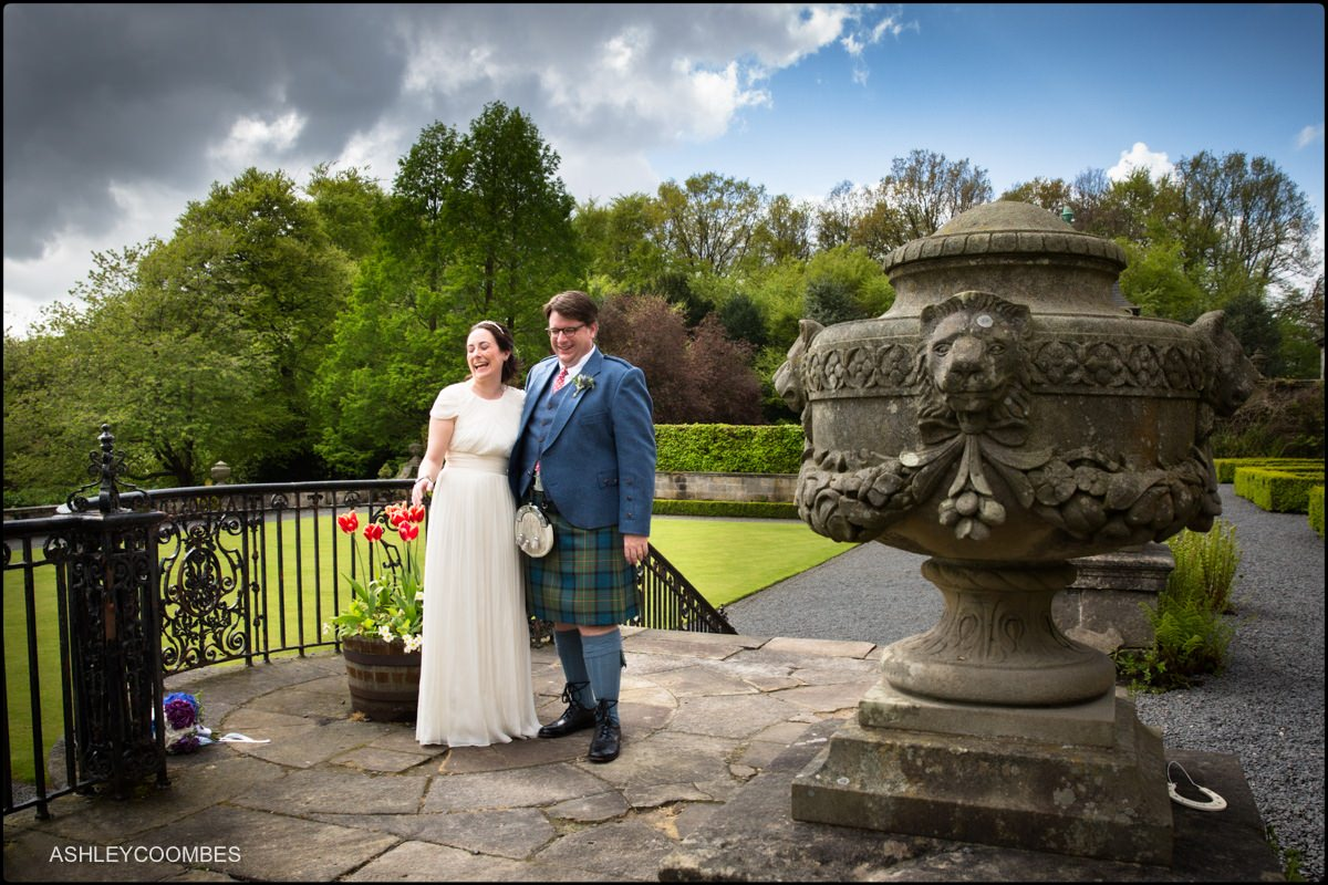 Pollok House wedding portrait
