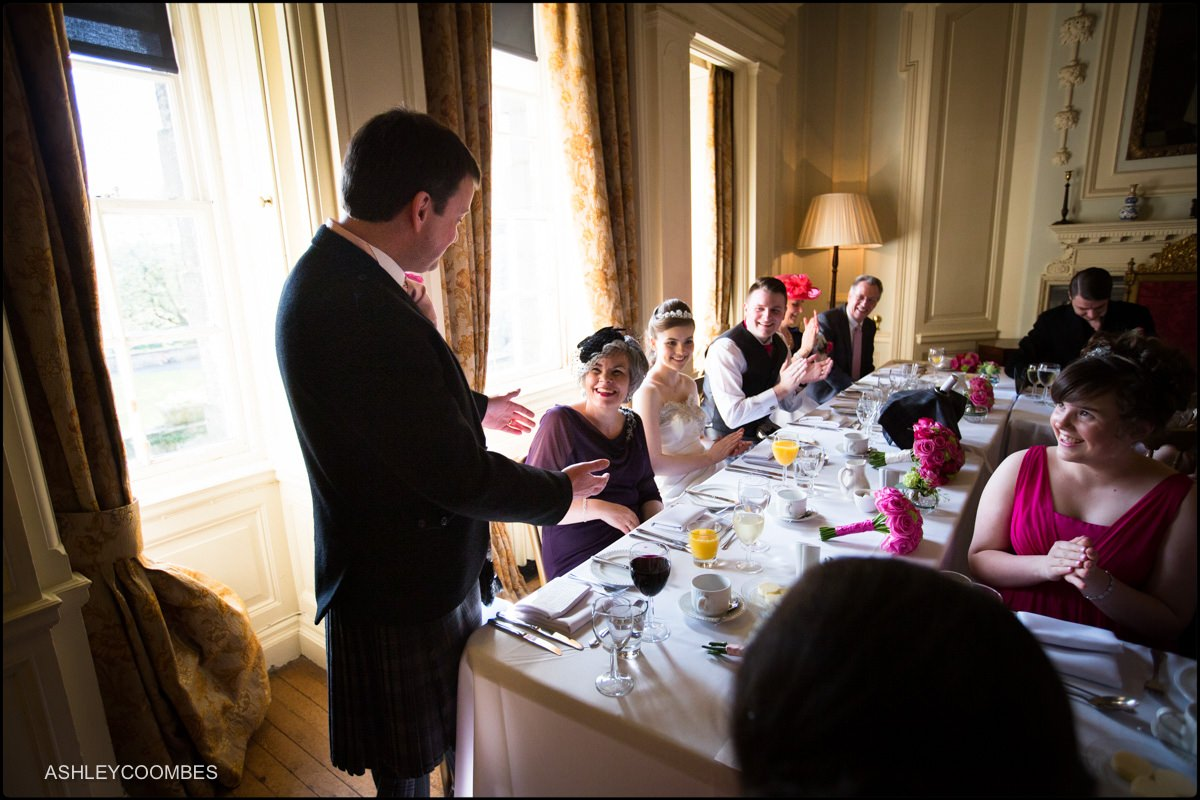 father of the bride speech at Pollok House