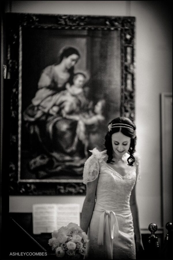 nervous bride Pollok House wedding