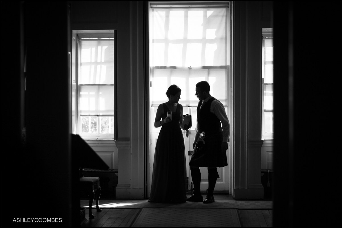 pollok house wedding silhouette