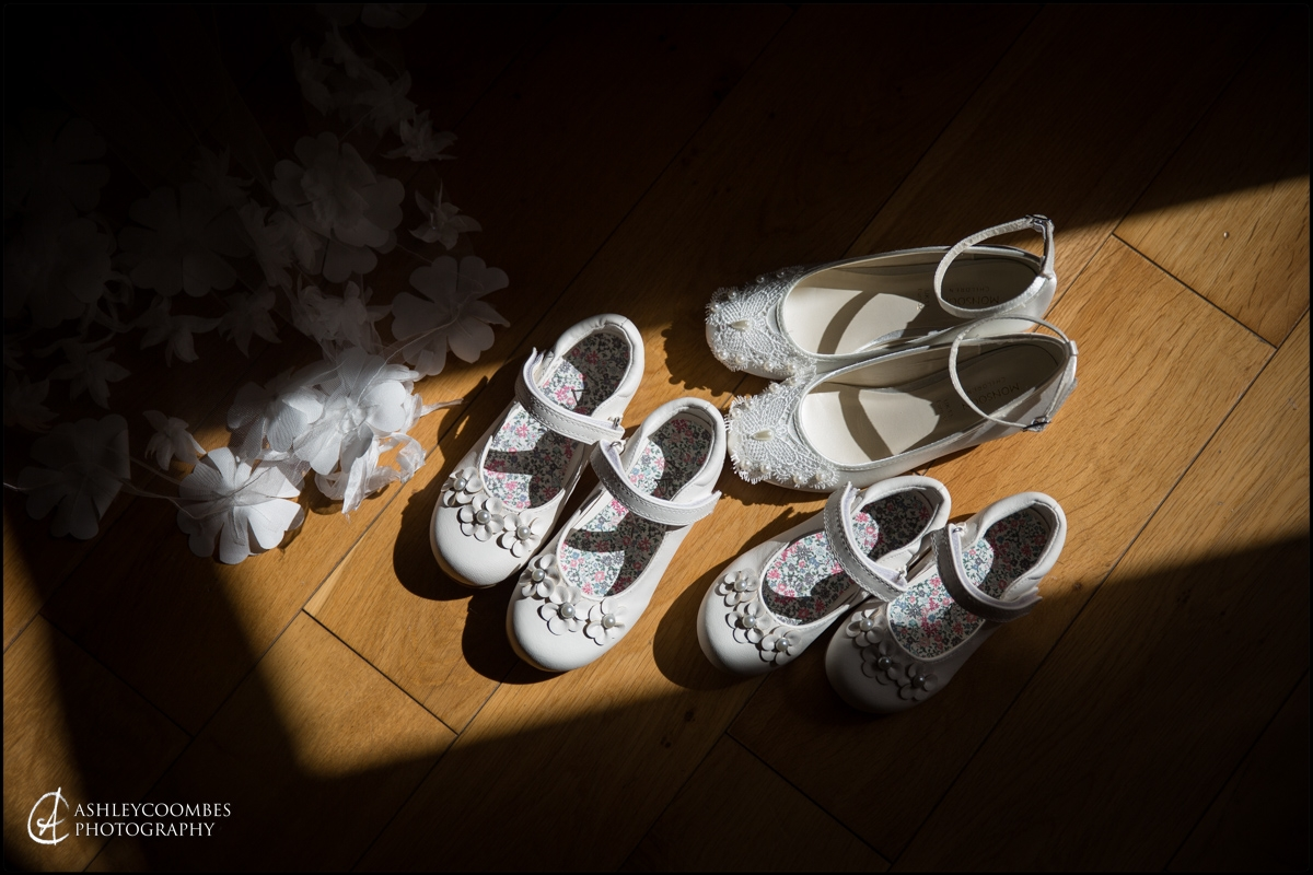 Bridesmaids' shoes.