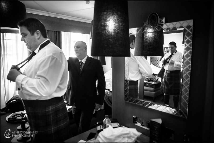 Groom preparations