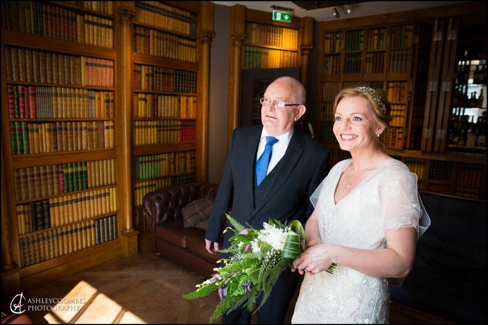 Mansfield Traquair wedding brides father