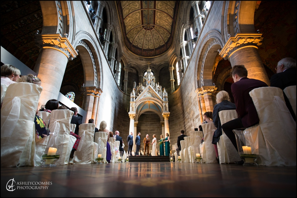 Mansfield Traquair wedding ceremony