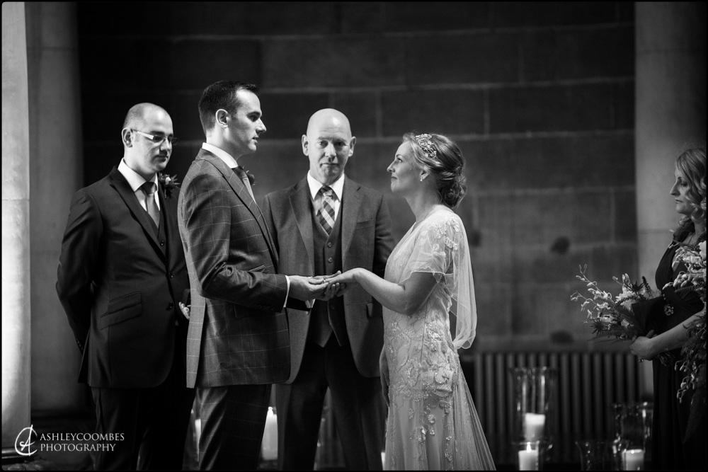 Mansfield Traquair sharing vows