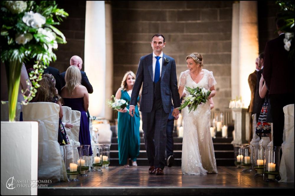 Mansfield Traquair wedding procession