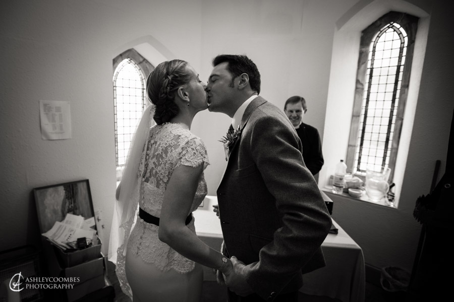 Lake of Menteith wedding bride groom