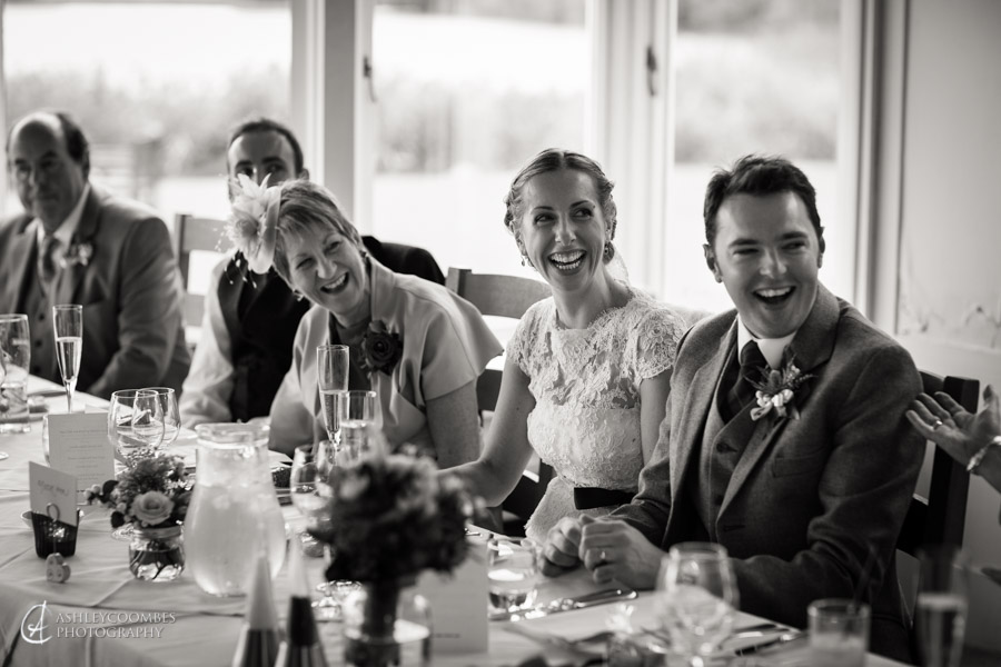Speeches at Lake of Menteith wedding