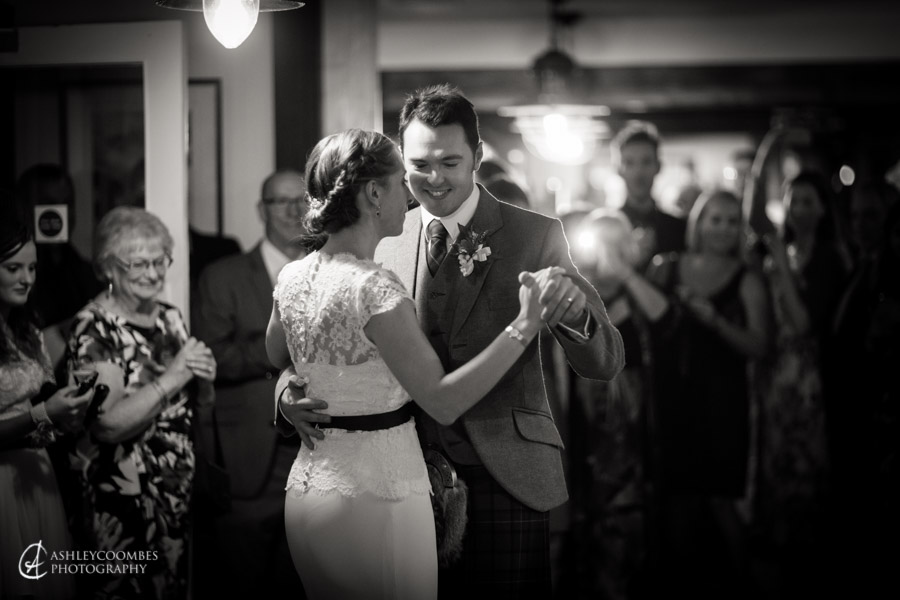 First dance Lake of Menteith wedding