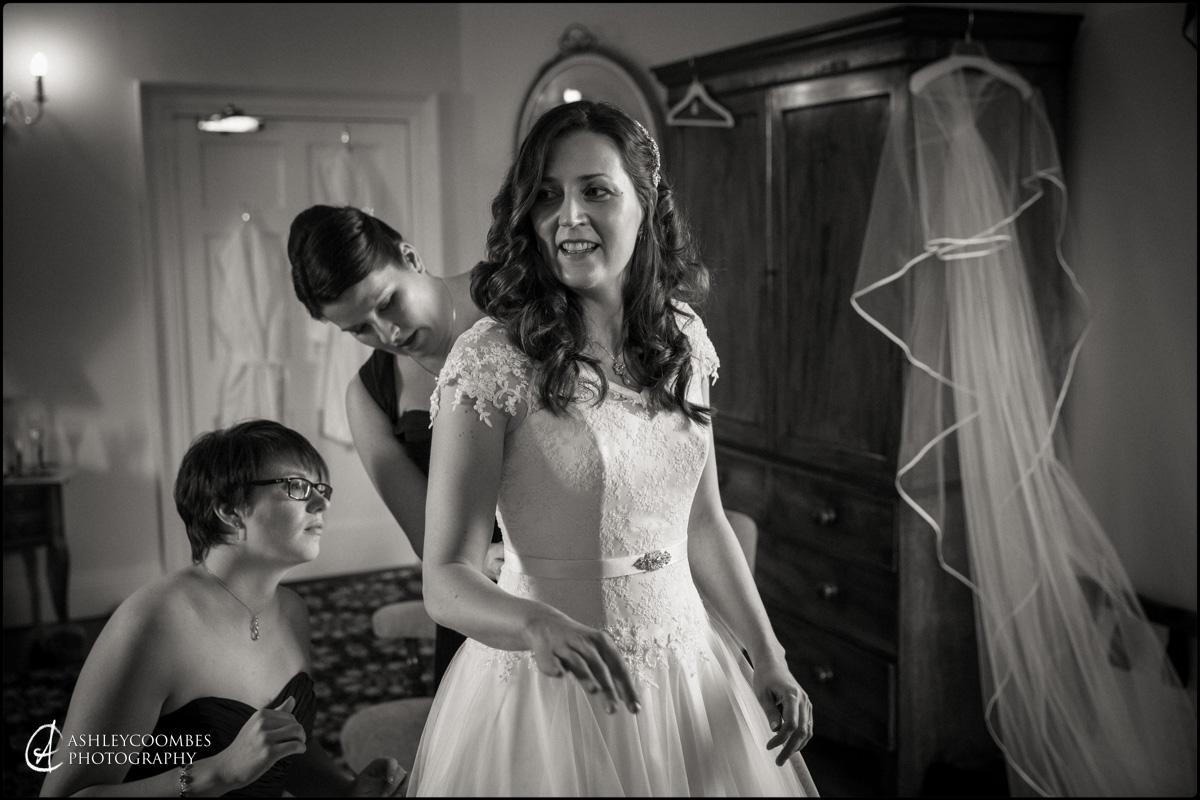 Winton House wedding bridal preparations