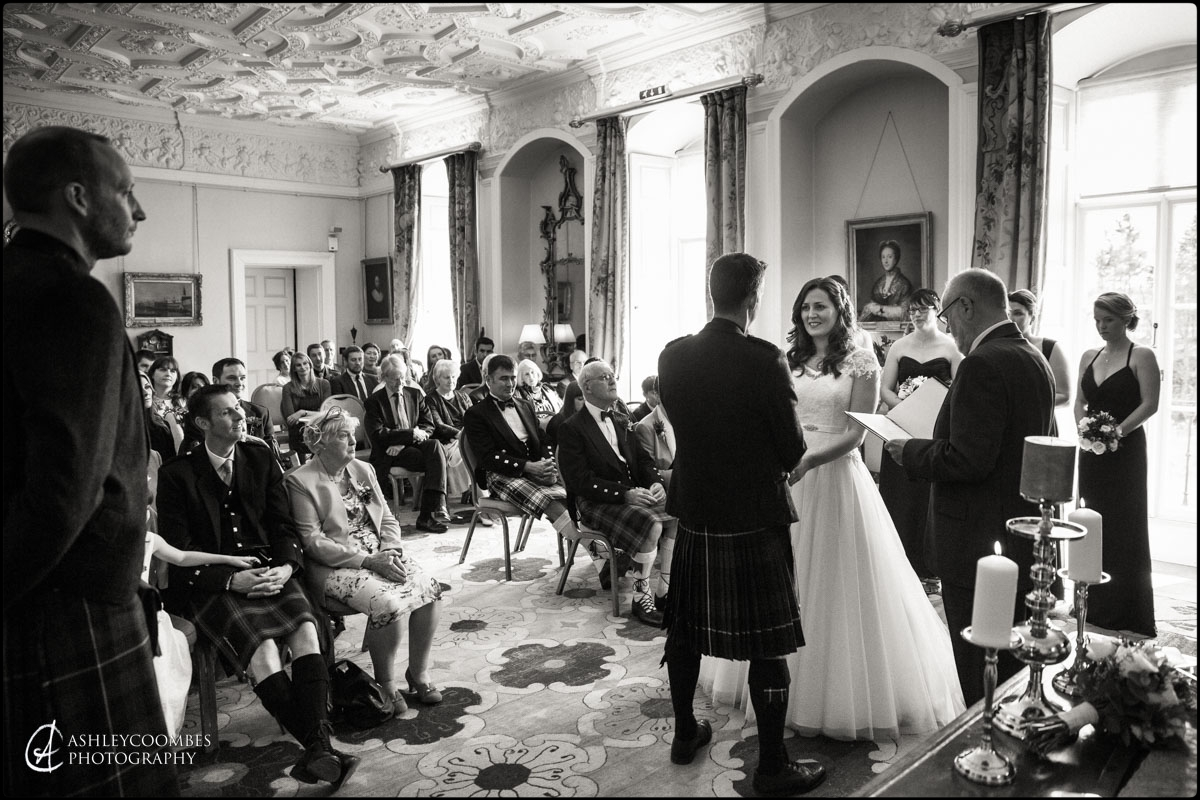 Winton House exchanging vows