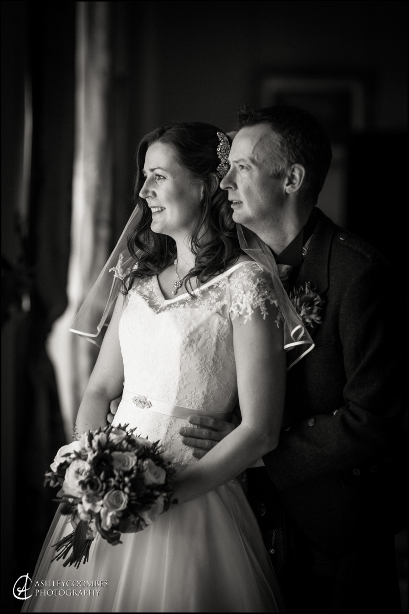 Winton House bride groom portrait