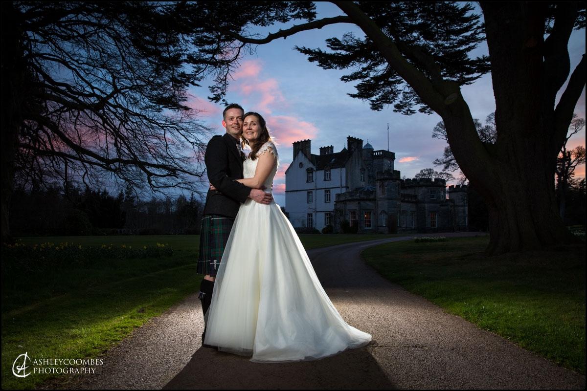 Winton House wedding portrait