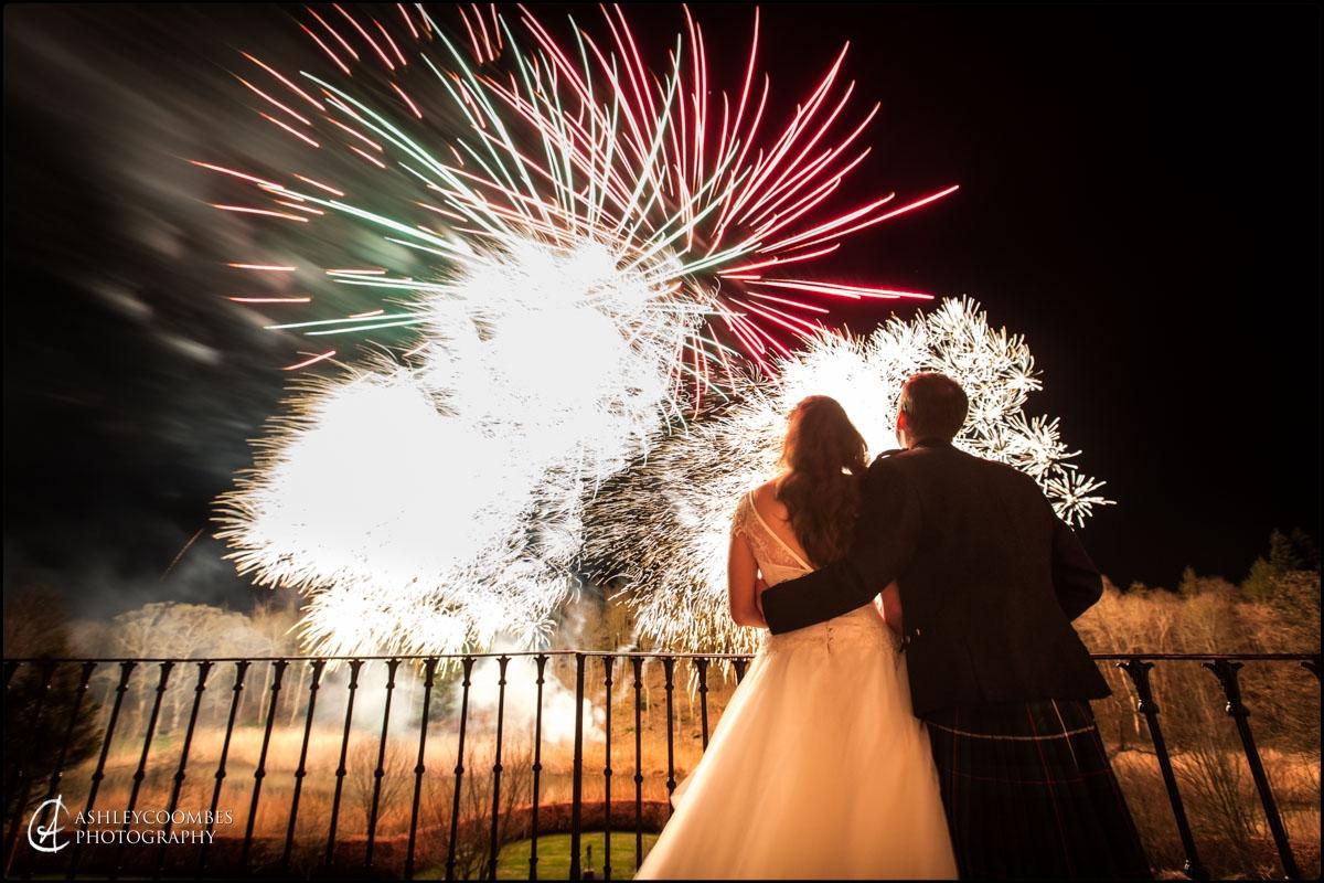 Winton House wedding fireworks
