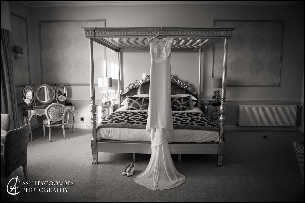 Wedding dress ready at Balbirnie House Wedding