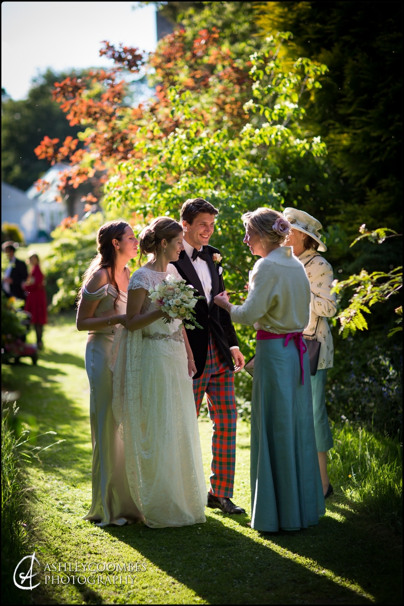 Bride and Groom Marquee Wedding Party Duns