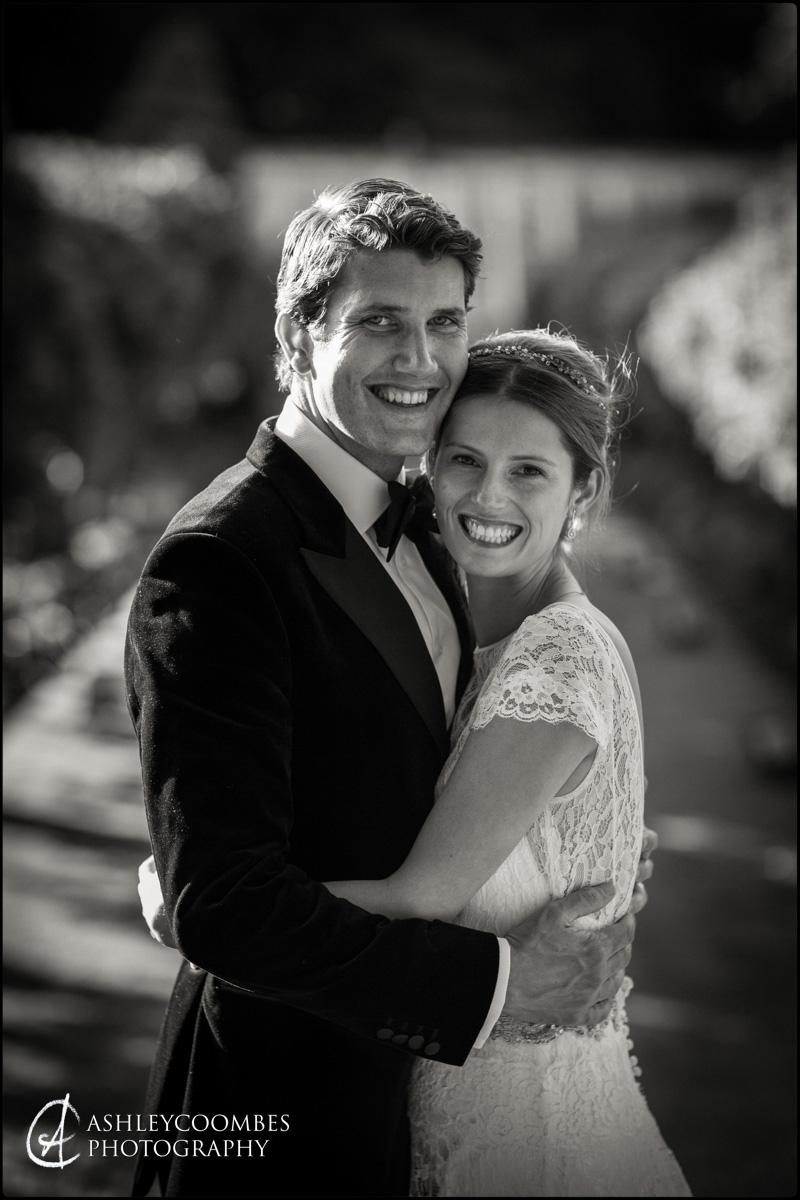 Very happy couple wedding portrait