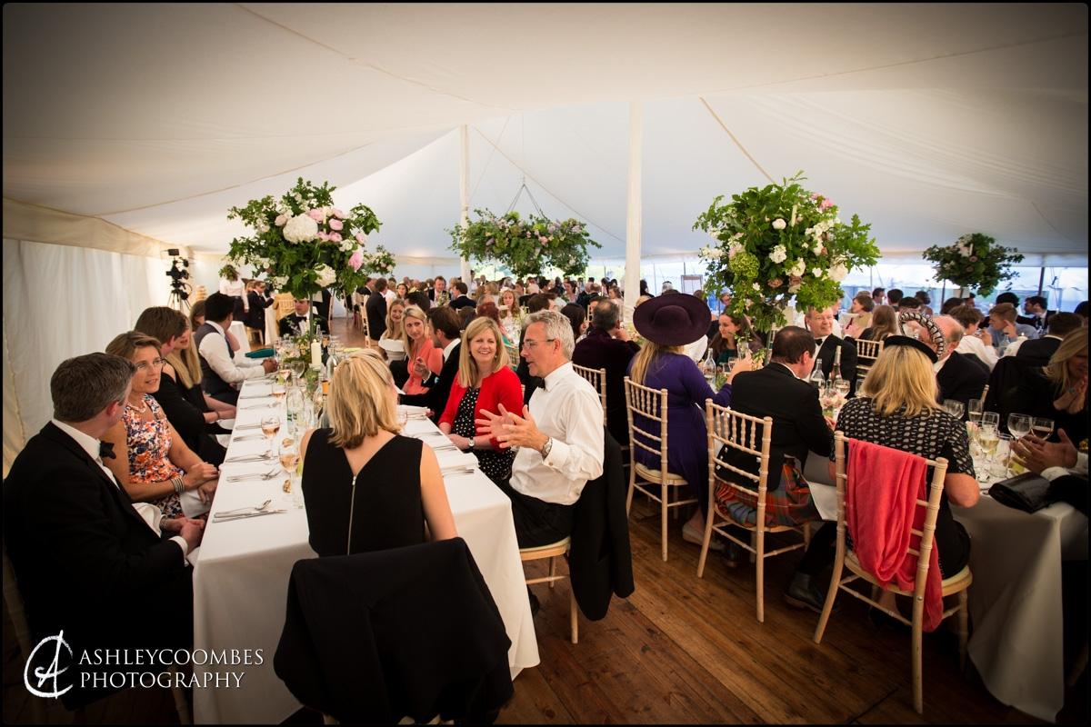 Marquee Wedding dinner