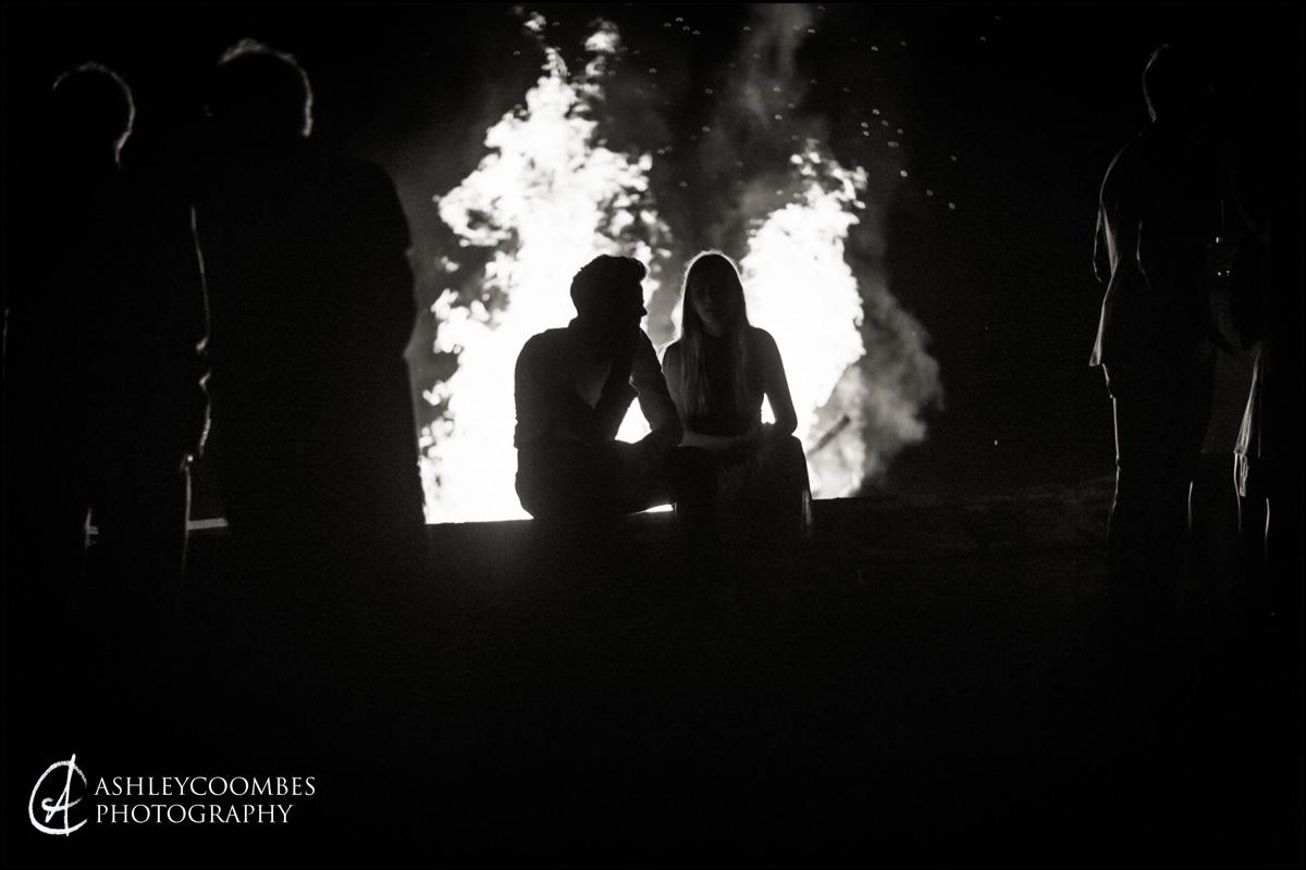 Marquee Wedding Party bonfire