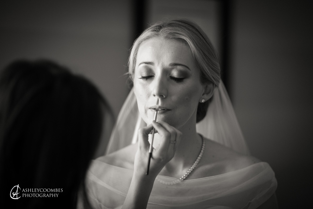 Bridal makeup final touch ups