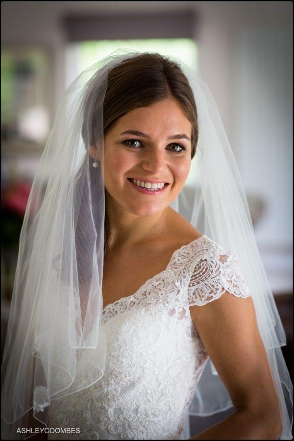 Jewish wedding bride portrait