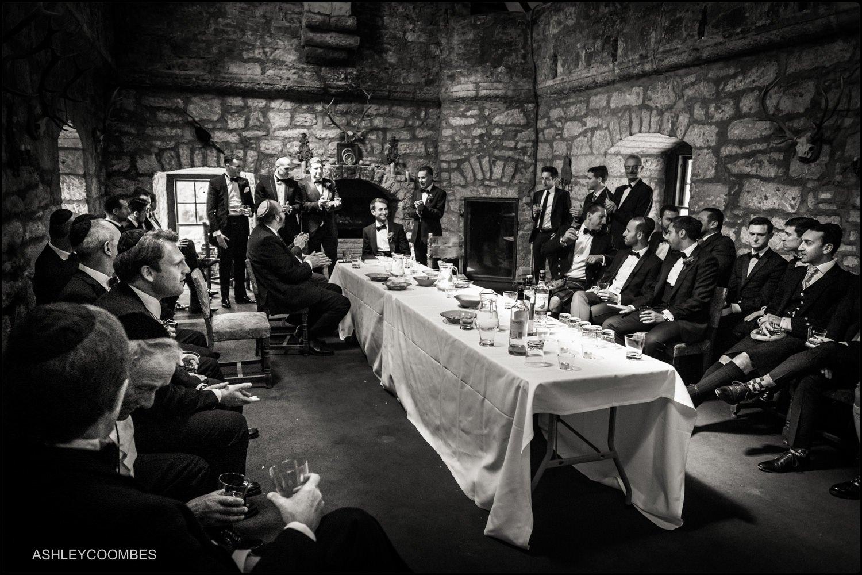 Duntreath Castle Jewish wedding Tisch