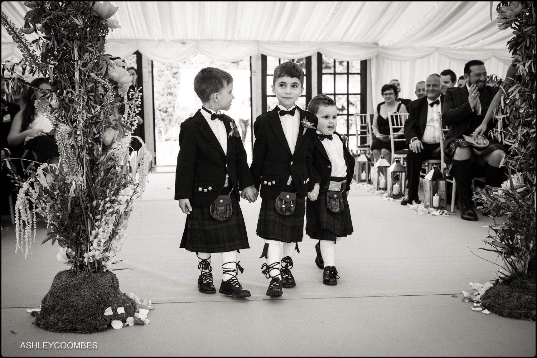 Duntreath Castle wedding page boys