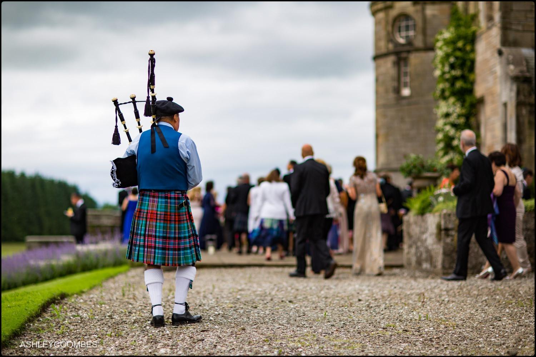Duntreath Castle piper