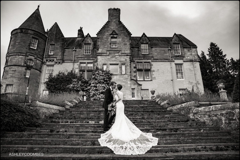 Duntreath Castle wedding portrait