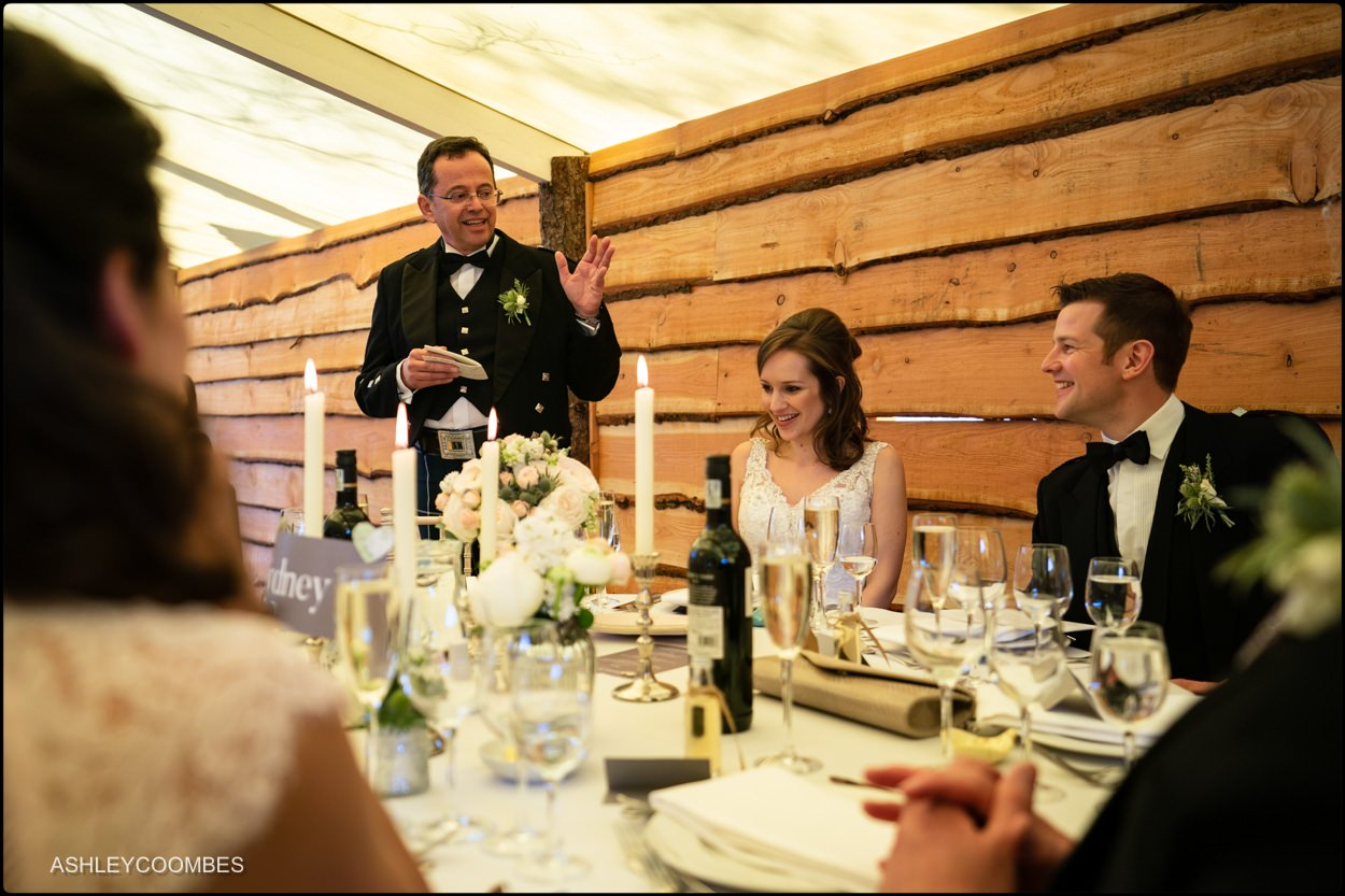 Myres Castle wedding speeches