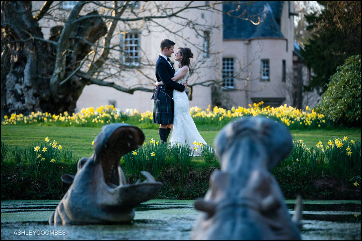 Myres Castle wedding portrait
