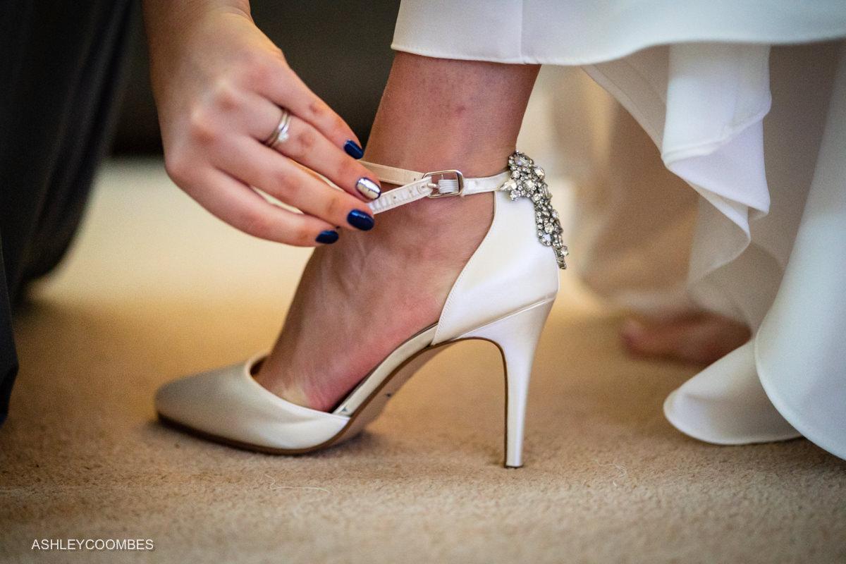 shoe on