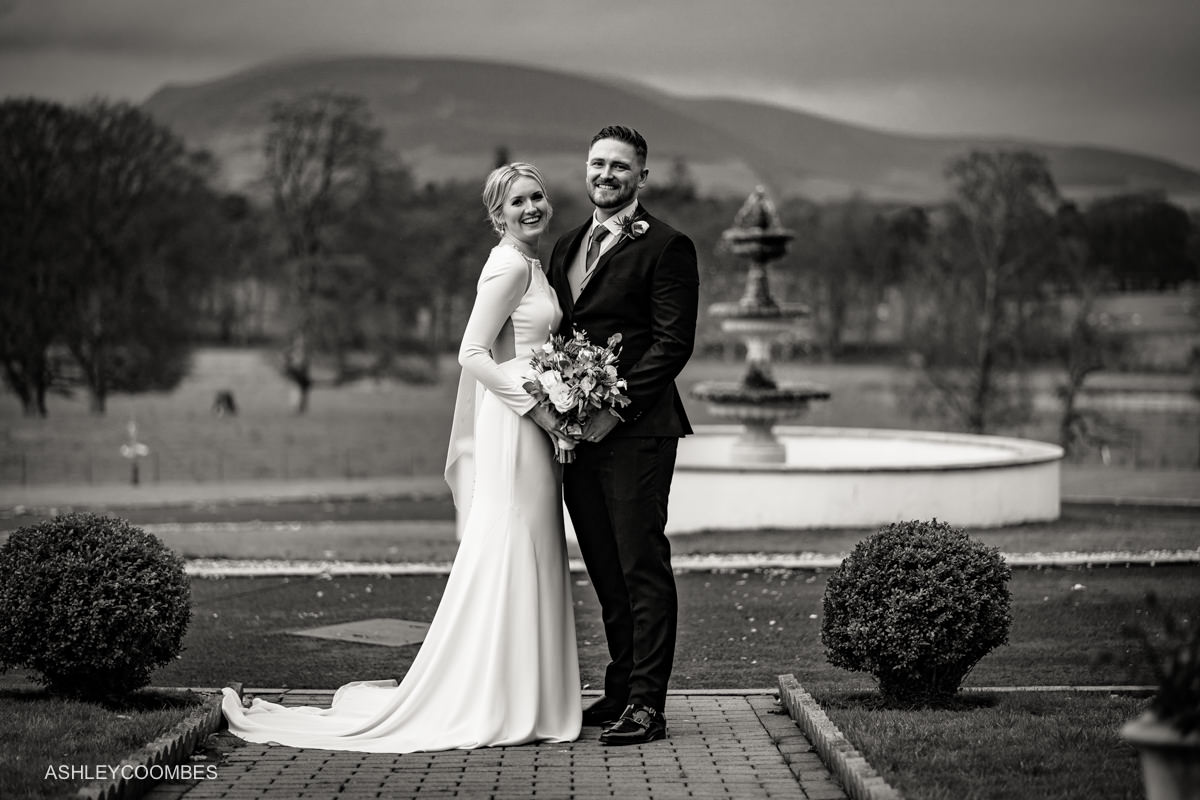 Cornhill Castle Wedding portrait
