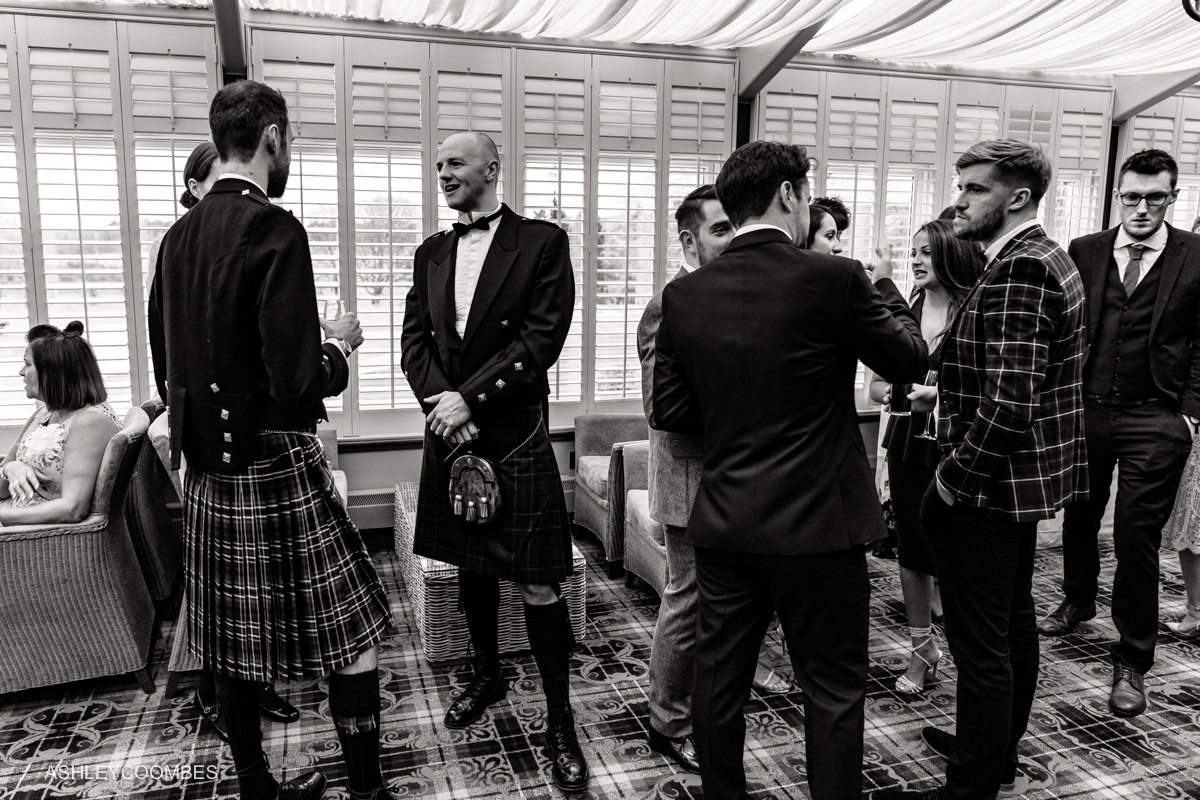 kilts at reception