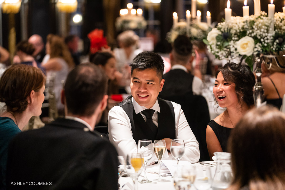 Cornhill Castle Wedding dinner conversation