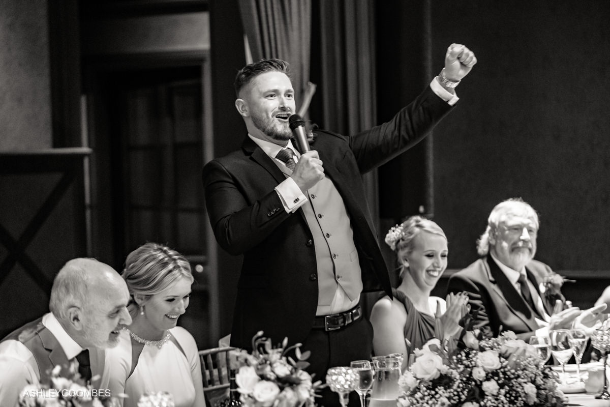groom speech cheering