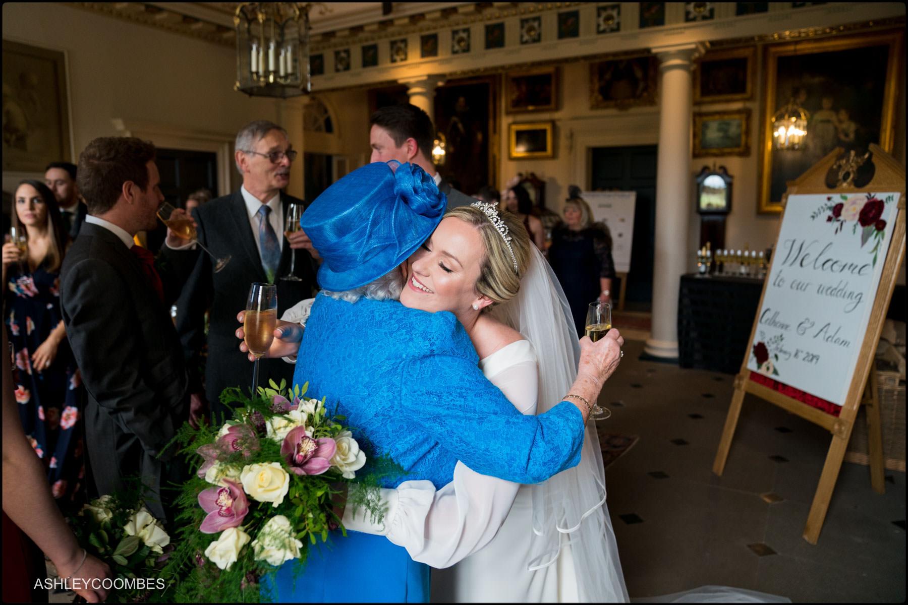 bride hugs gran