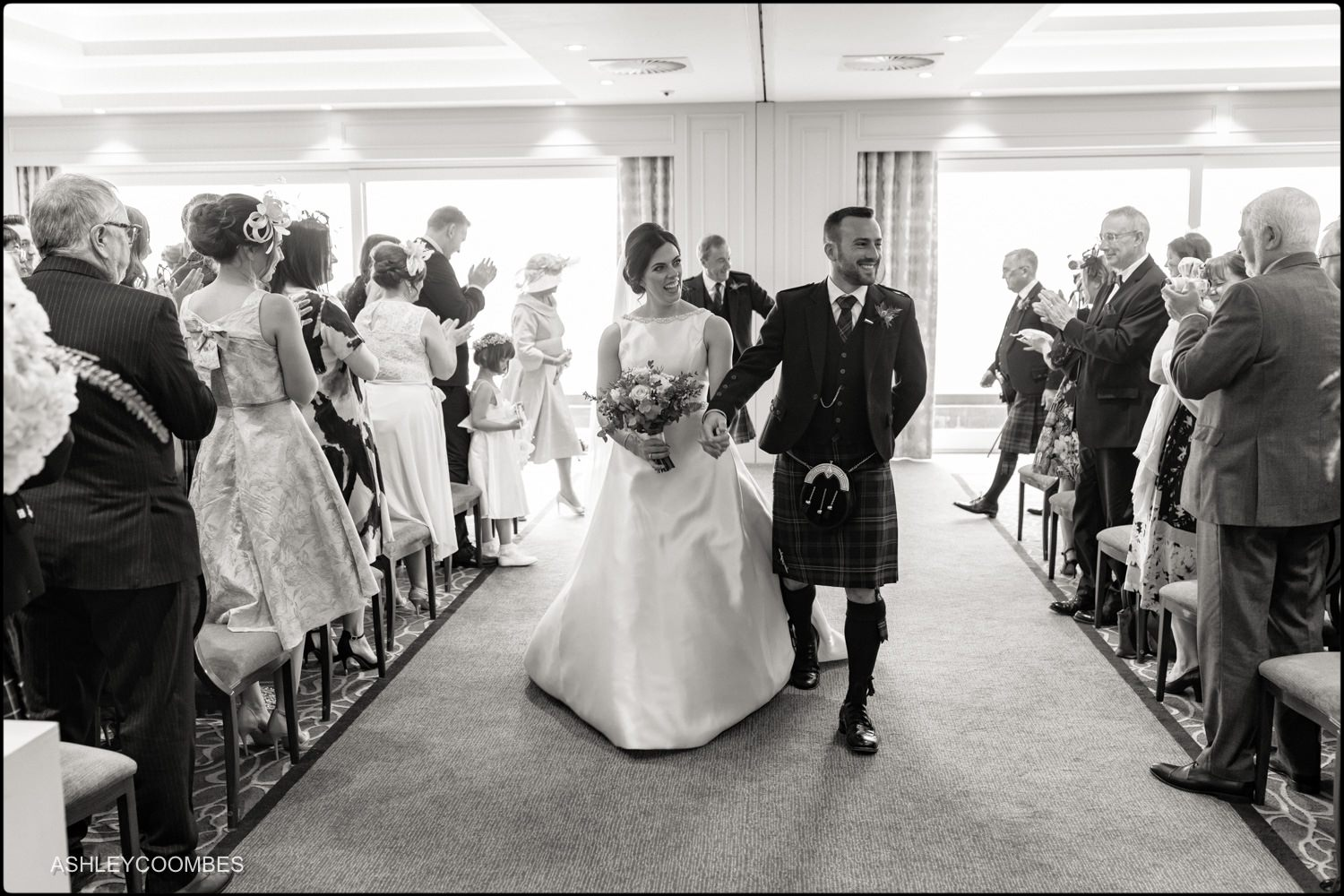 Laura and Frank Seamill Hydro Wedding Ashley Coombes Photography