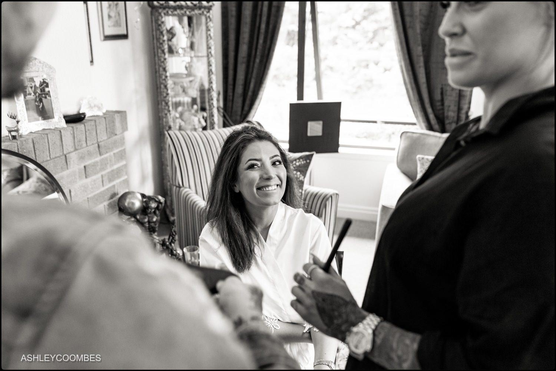 Bridal prep for Mansfield Traquair Wedding