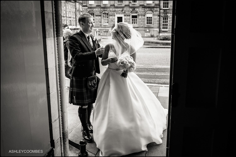 Brides veil Mansfield Traquair Wedding