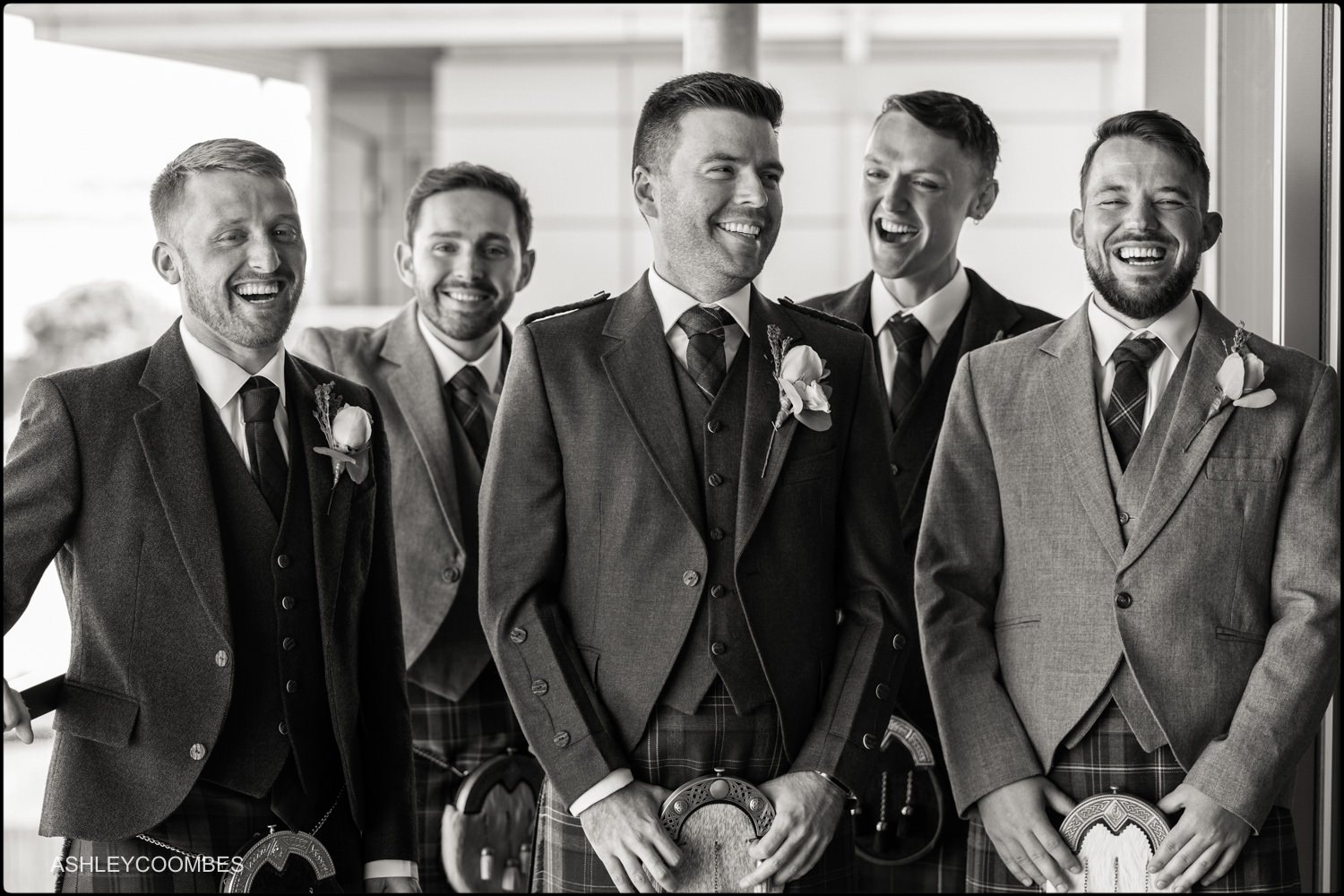 Groom and ushers portrait