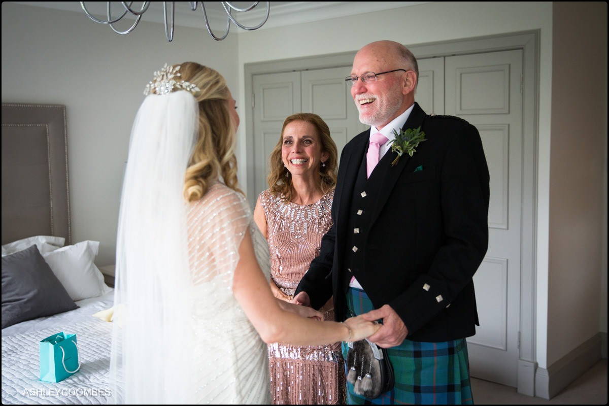 Bride revealed to dad