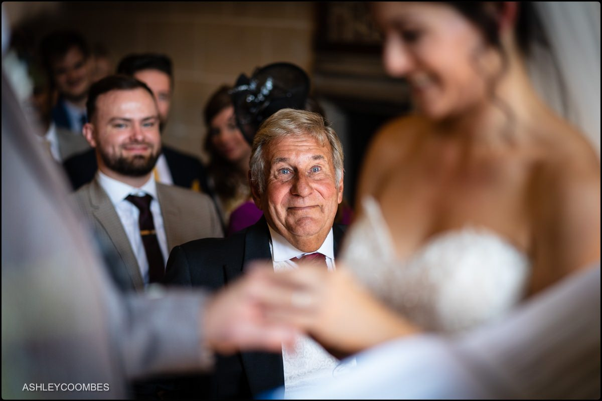 dad watches daughter marriage