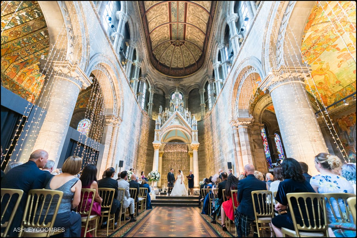 wedding ceremony Mansfield Traquair