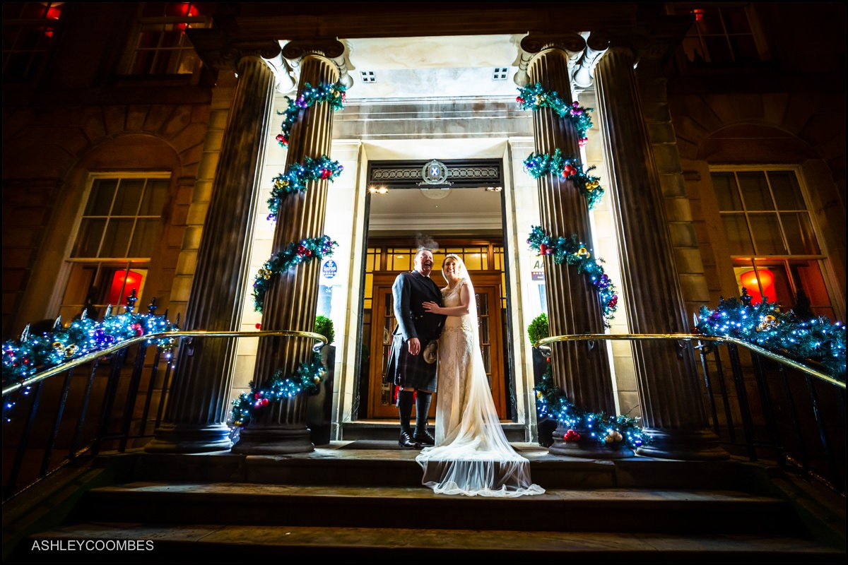 Blythswood wedding portrait