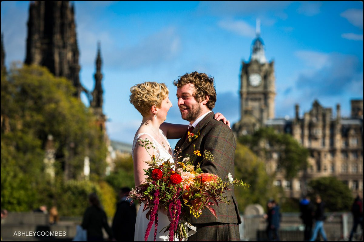 Edinburgh Wedding portrait