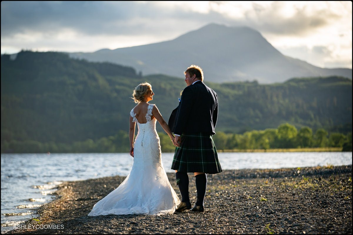 Loch Ard Wedding portrait