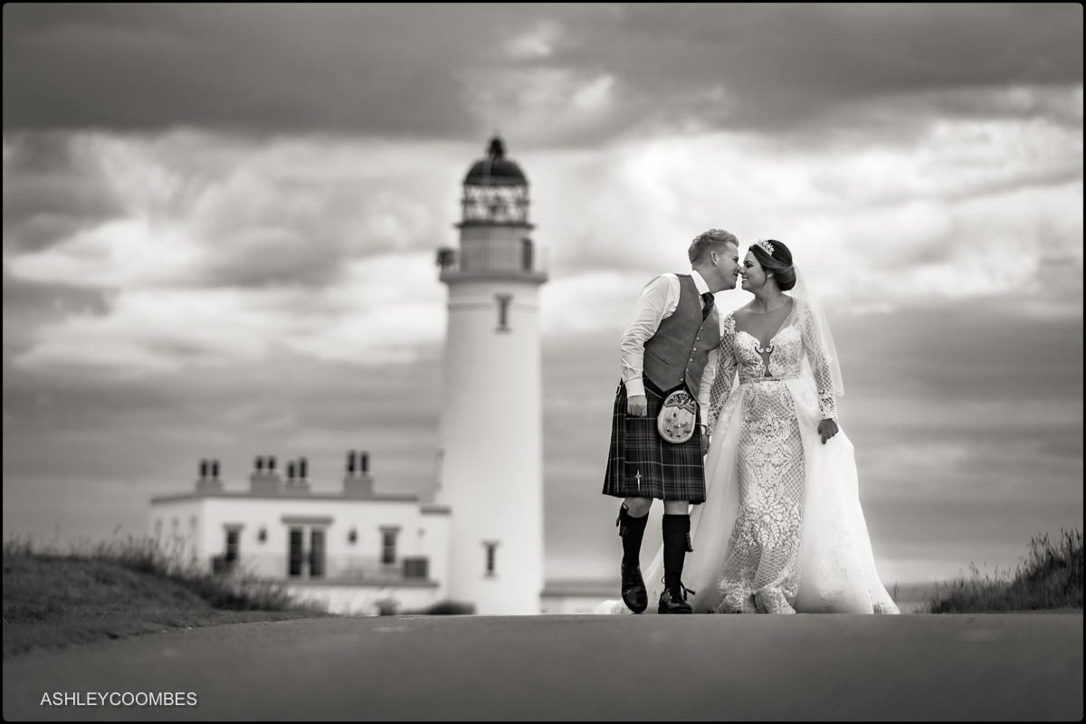 Turnberry Lighthouse Wedding portrait